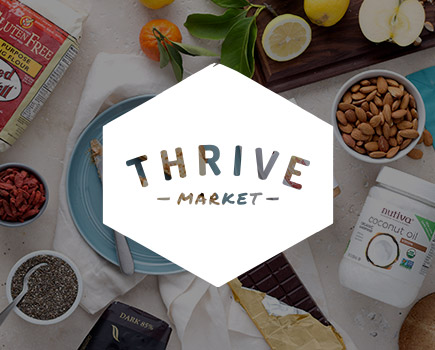 @crunchyvegangal's cover photo for 'Thriving with Thrive Market'