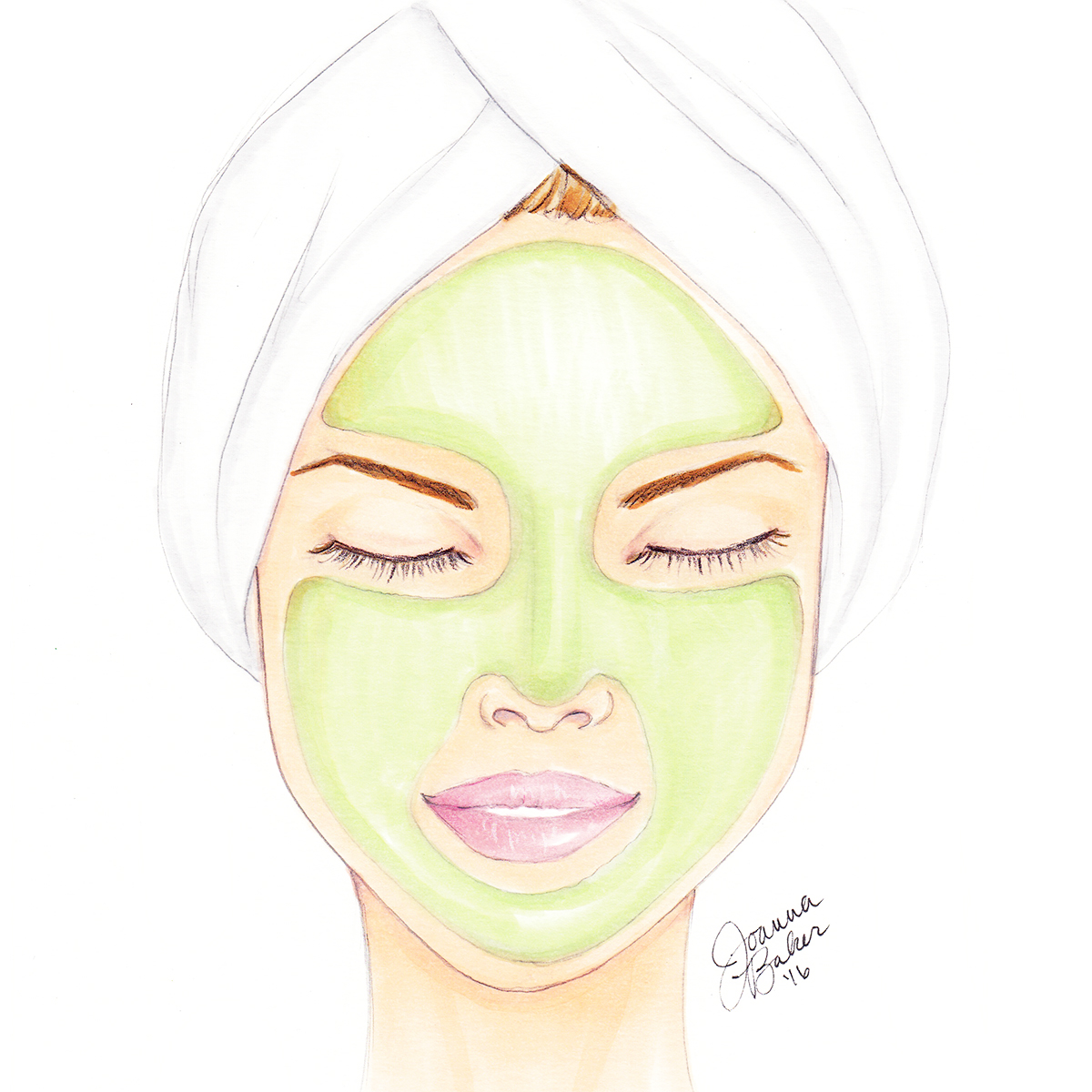 @joannabaker's cover photo for 'Spa Day at Joanna Vargas Skincare... » Joanna Baker : Fashion & Lifestyle Illustrations'
