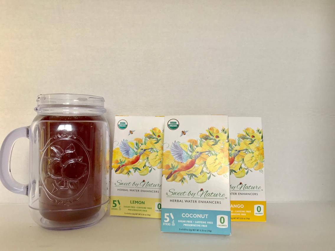 @betterlivinblog's cover photo for 'Spring Sippin' - Sweet by Nature Herbal Water Enhancers - Better Livin'