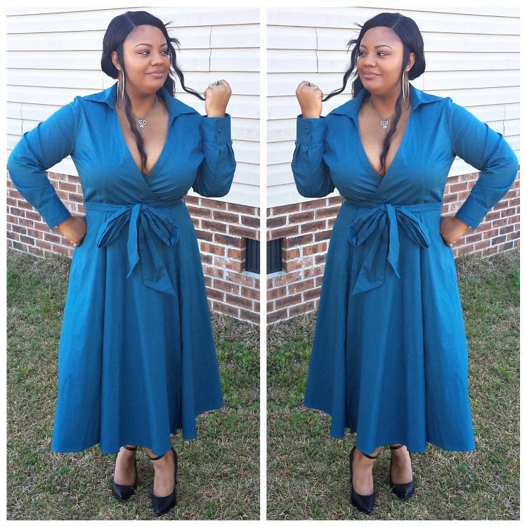@sodrewrites's cover photo for 'Wardrobe Staple | The eShakti Wrap Dress'