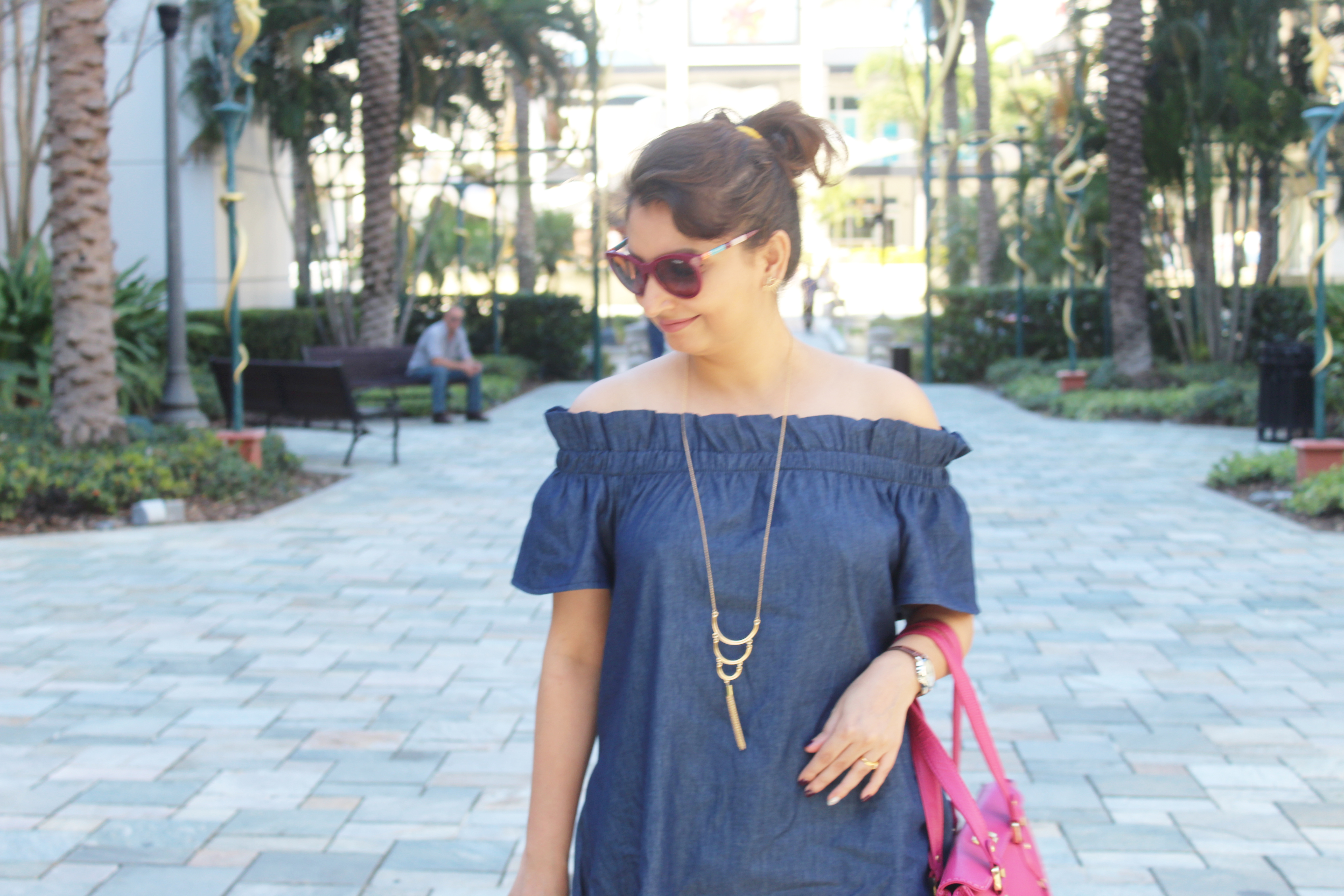 @ana__s__world's cover photo for 'The Perfect Off-The-Shoulder Denim Dress | From The Mint Julep Boutique'