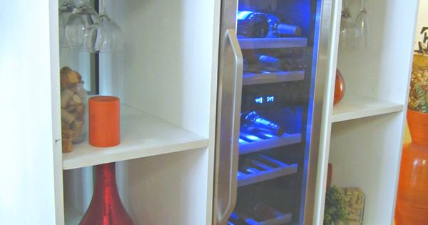 @thedecordujour's cover photo for 'DIY Wine Cooler Cabinet + A Giveaway -'