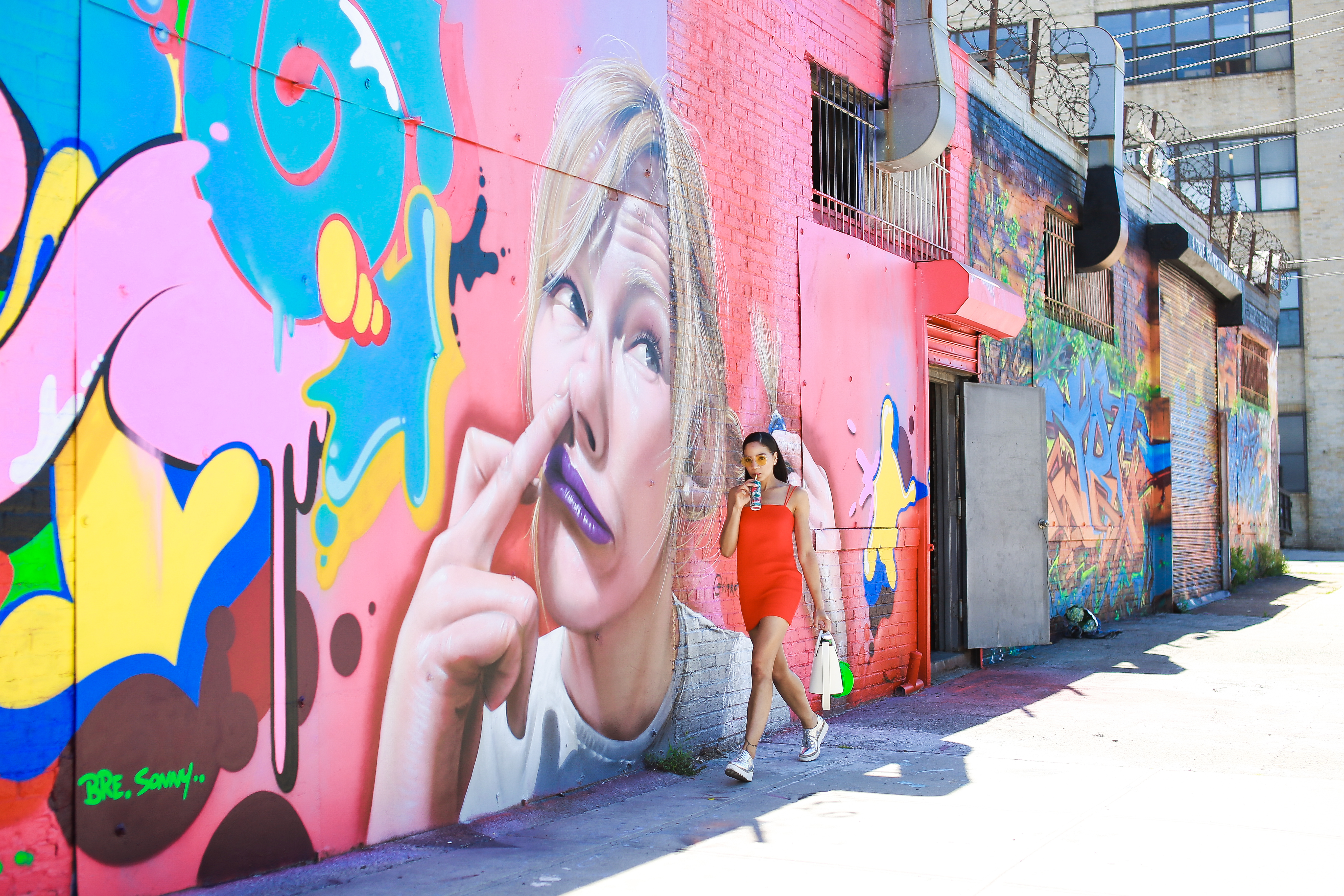 @stylishflaneuse's cover photo for 'Exploring Bushwick's Street Art with Perrier's Sparkling Mineral Waters'