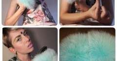 @katerinawilhelmina's cover photo for 'Katerina Wilhelmina Models Fox Fur Slides By Ritzy Furs'