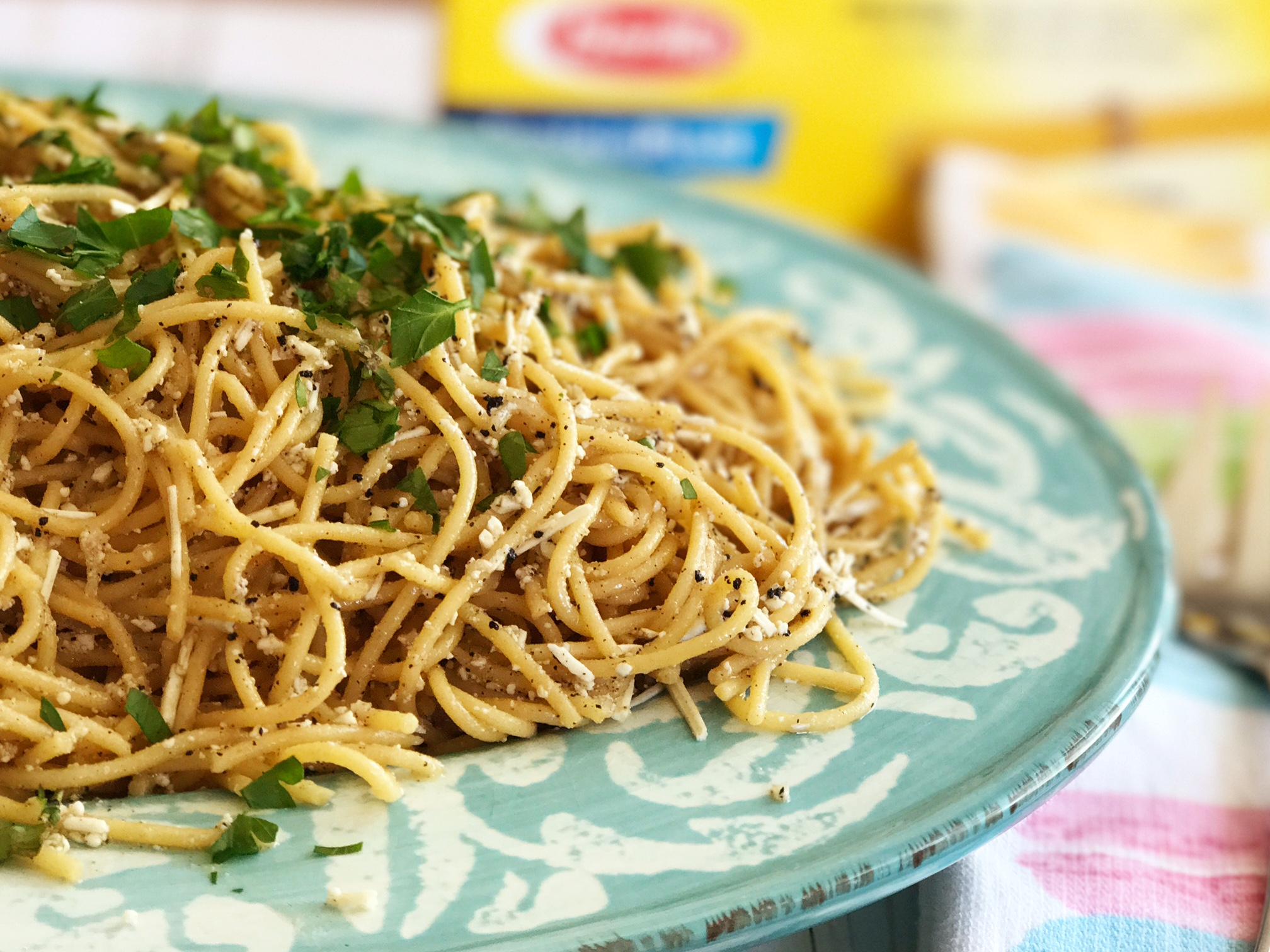 @sparklinglala's cover photo for 'Mizithra Browned Butter with Barilla ProteinPLUS® Pasta'