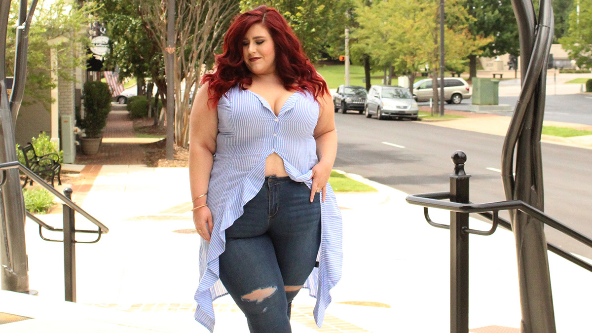 @curves_curlsandclothes's cover photo for 'Plus Size Casual A'GACI Look | Curves, Curls and Clothes'