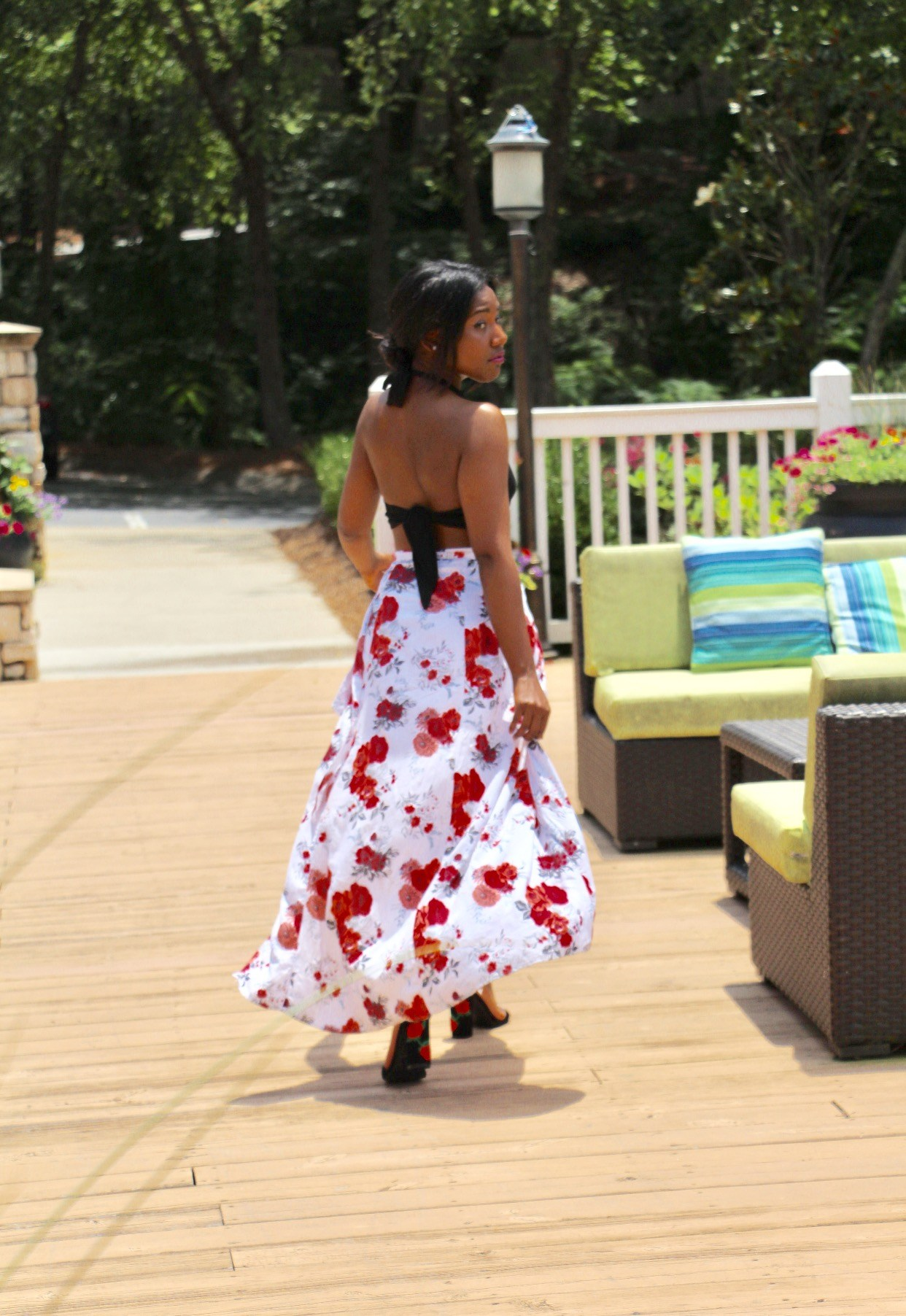@marjanialadin's cover photo for 'Floral Wrap Skirt'