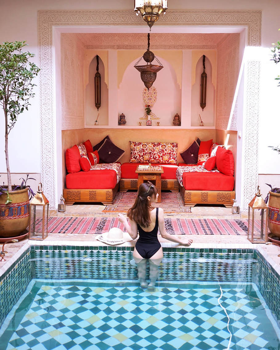 @packmeinursuitcase's cover photo for 'staying in a riad in Marrakesh, Morocco'
