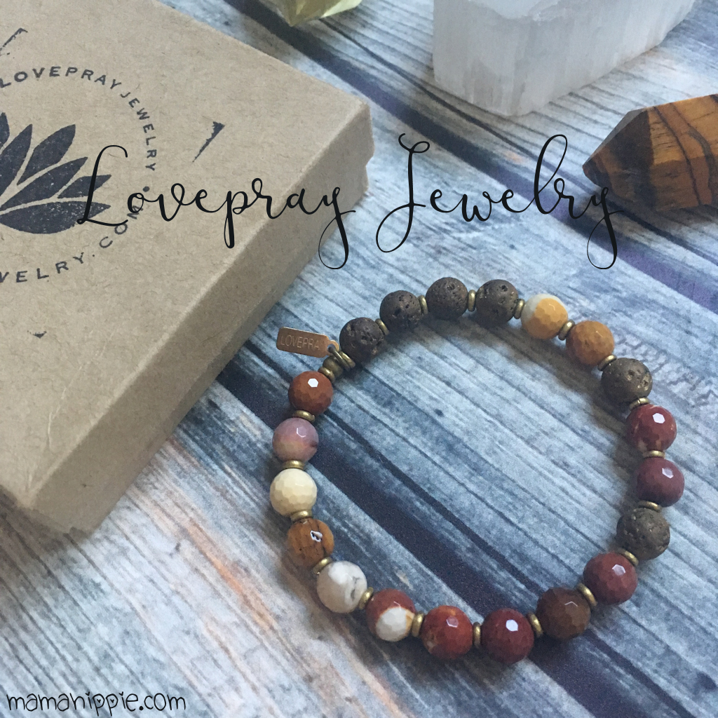 @mamababyhippie's cover photo for 'LovePray Essential Oil Diffuser Bracelet Review - Mama Hippie'