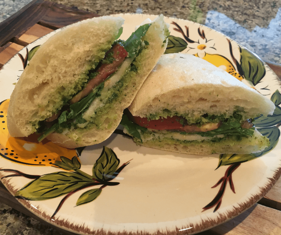 @veegmama's cover photo for 'Vegan Caprese Sandwich'