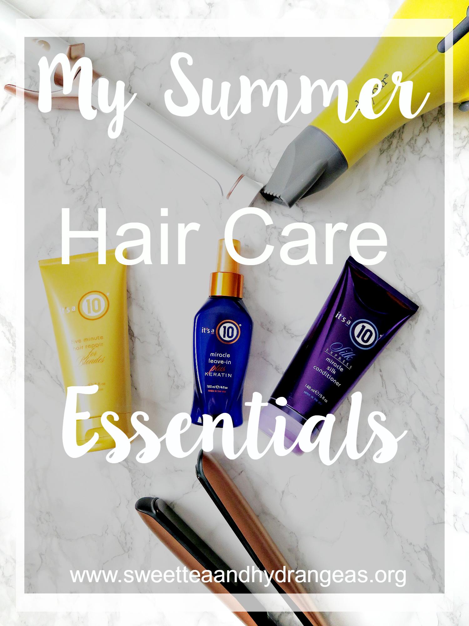 @sweetteaandhydrangeas's cover photo for 'My Summer Hair Care Essentials'