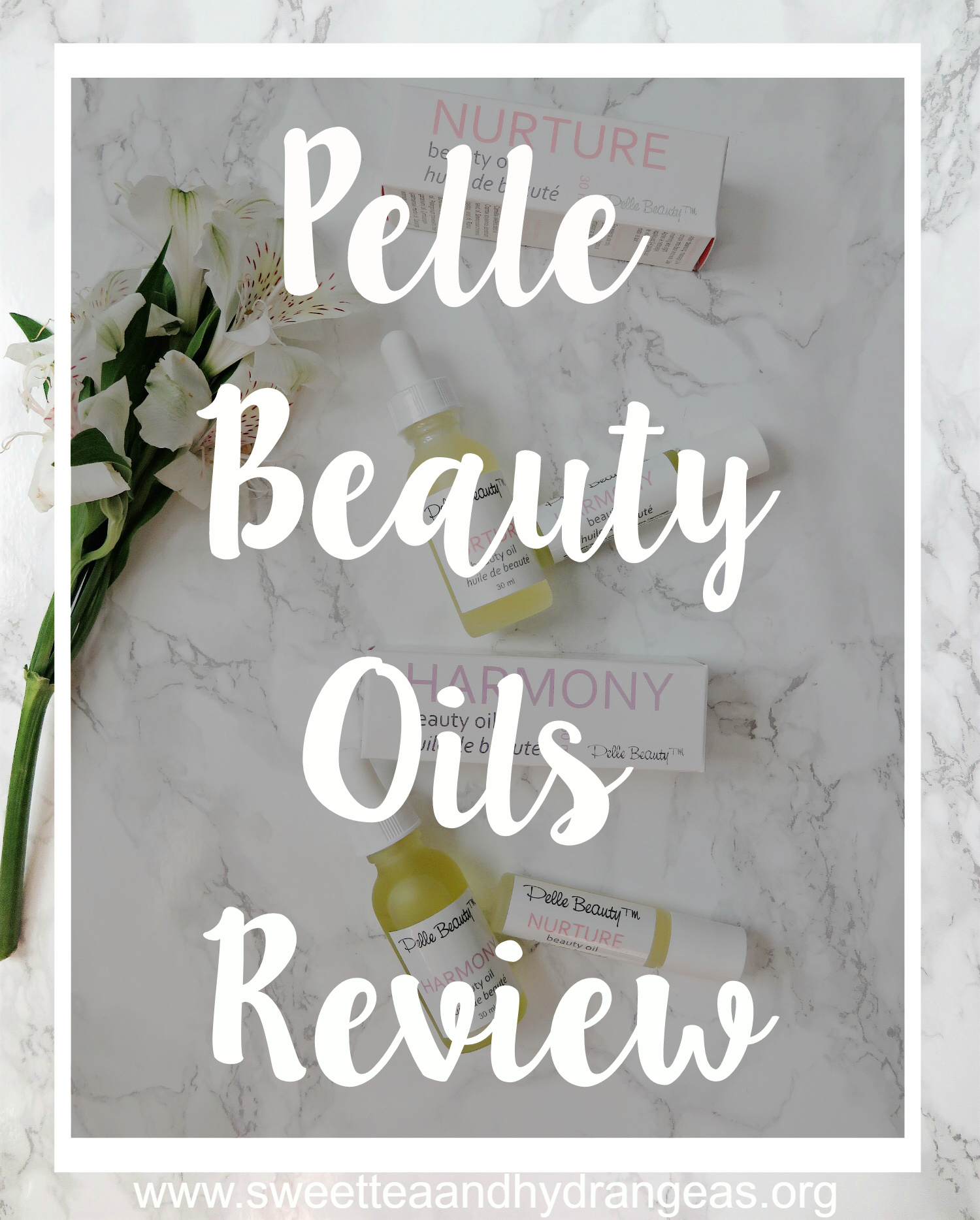 @sweetteaandhydrangeas's cover photo for 'Pelle Beauty Oils Review'