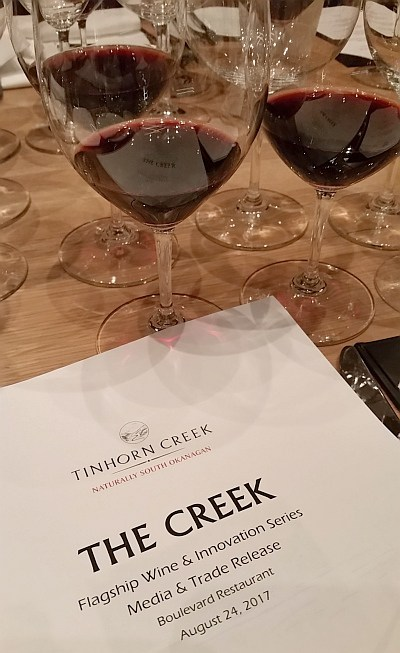 @mywinepal's cover photo for '| Tinhorn Creek's Flagship Wine 'The Creek' and MoreMyWinePal'