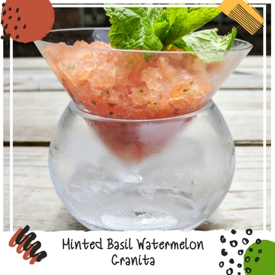 @sunshineflgirl's cover photo for 'Minted Basil Watermelon Granita Summertime Dessert Recipe and the Perfect Chiller Bowl • TaylorLife'