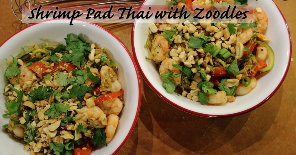@sunshineflgirl's cover photo for 'Shrimp Pad Thai with Zoodles • TaylorLife'