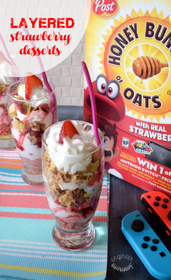 @engineermommyblog's cover photo for 'Layered Strawberry Parfaits - Engineer Mommy'
