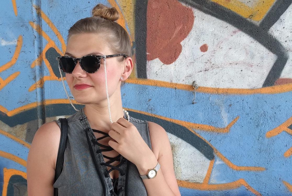 @yellowgirl_at's cover photo for '#ootd Schlauchkleid von Zara, optische Sonnenbrille von My Spexx und diy Accessoires - yellowgirl der DIY und lifestyle Blog'