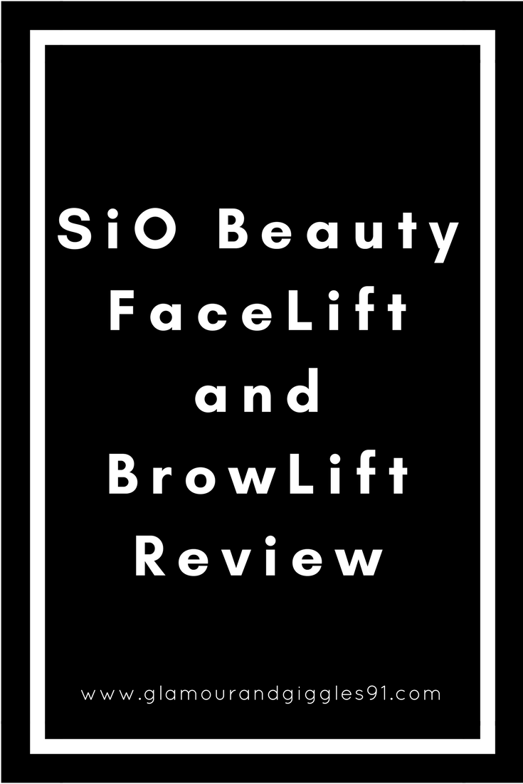 @glamourandgiggles's cover photo for 'SiO Beauty Face Lift and Brow Lift | Full Review'