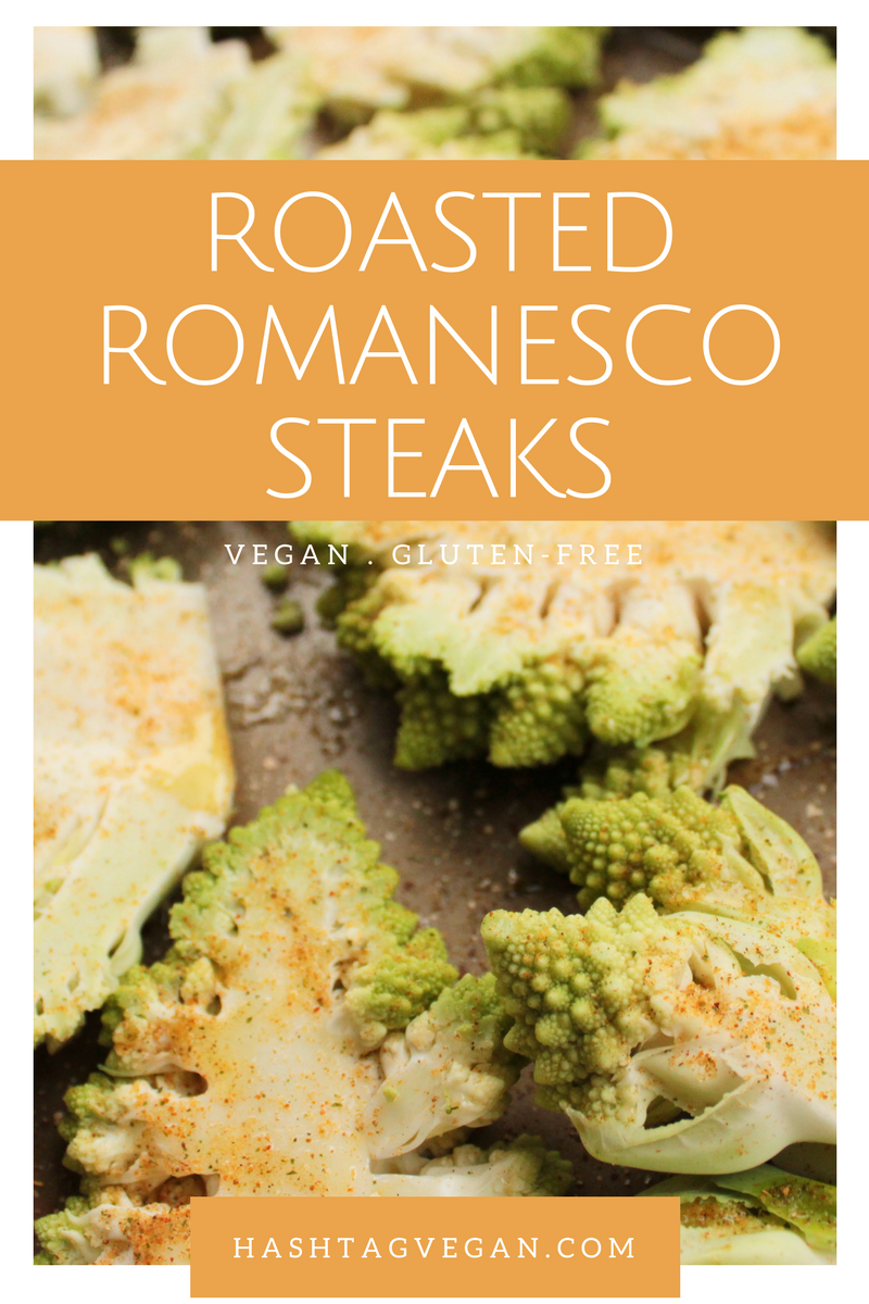 @hashtagvegan's cover photo for 'RECIPE: Roasted Romanesco Steaks (VEGAN + GF)'
