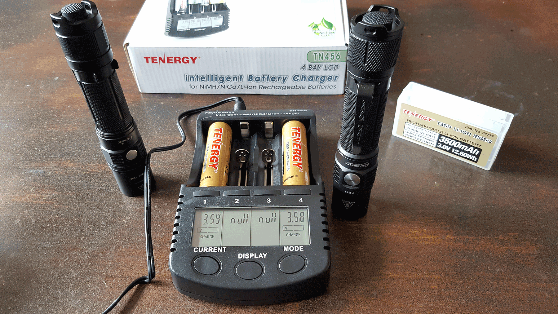 @coachhelder's cover photo for 'Tenergy Batteries & Charger; What's Powering Your Tactical Flashlight? - Coach Helder'