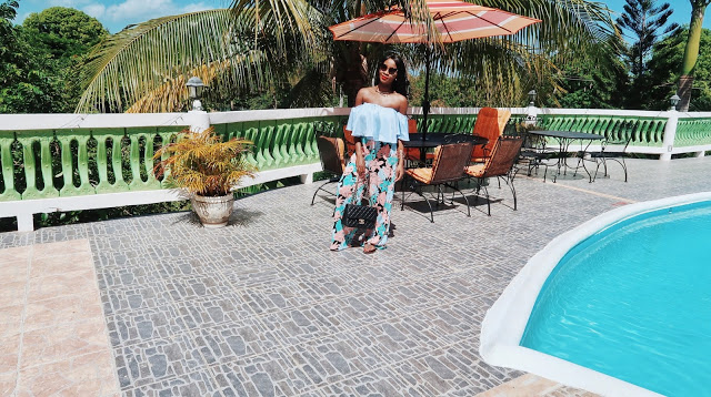 @miss.joi's cover photo for 'The Casual Chic Style: Bardot Crop Top + Floral Pants'
