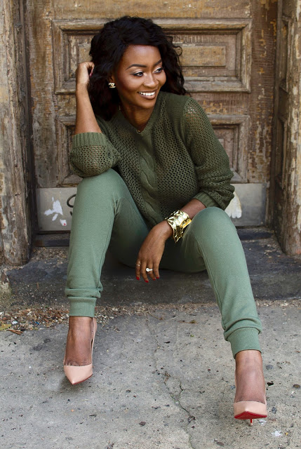 @miss.joi's cover photo for 'The Casual Chic Style: Knit Sweater + Joggers'