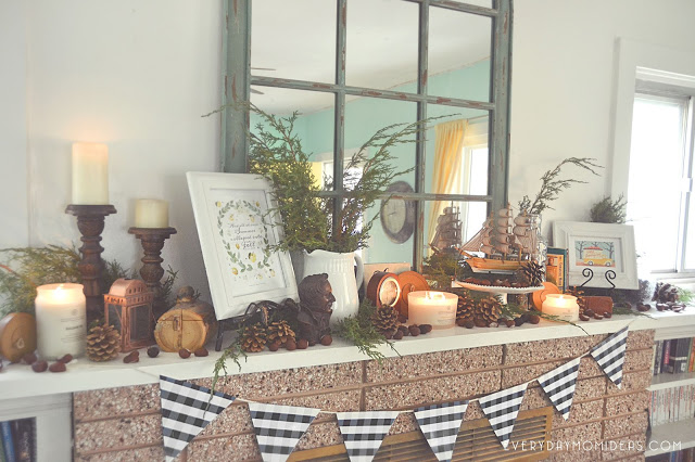 @houseofpixeldust's cover photo for 'Everyday Mom Ideas: Fall/Winter Home Decor Reveal (1928 Historic Bungalow Home)'