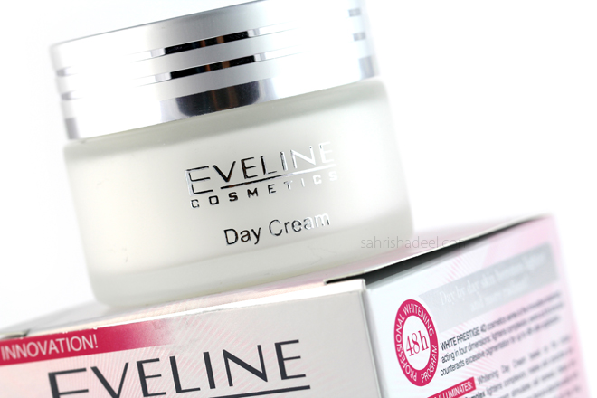 @sahrishadeel's cover photo for 'White Prestige 4D Day & Night Creams by Eveline Cosmetics - Review'