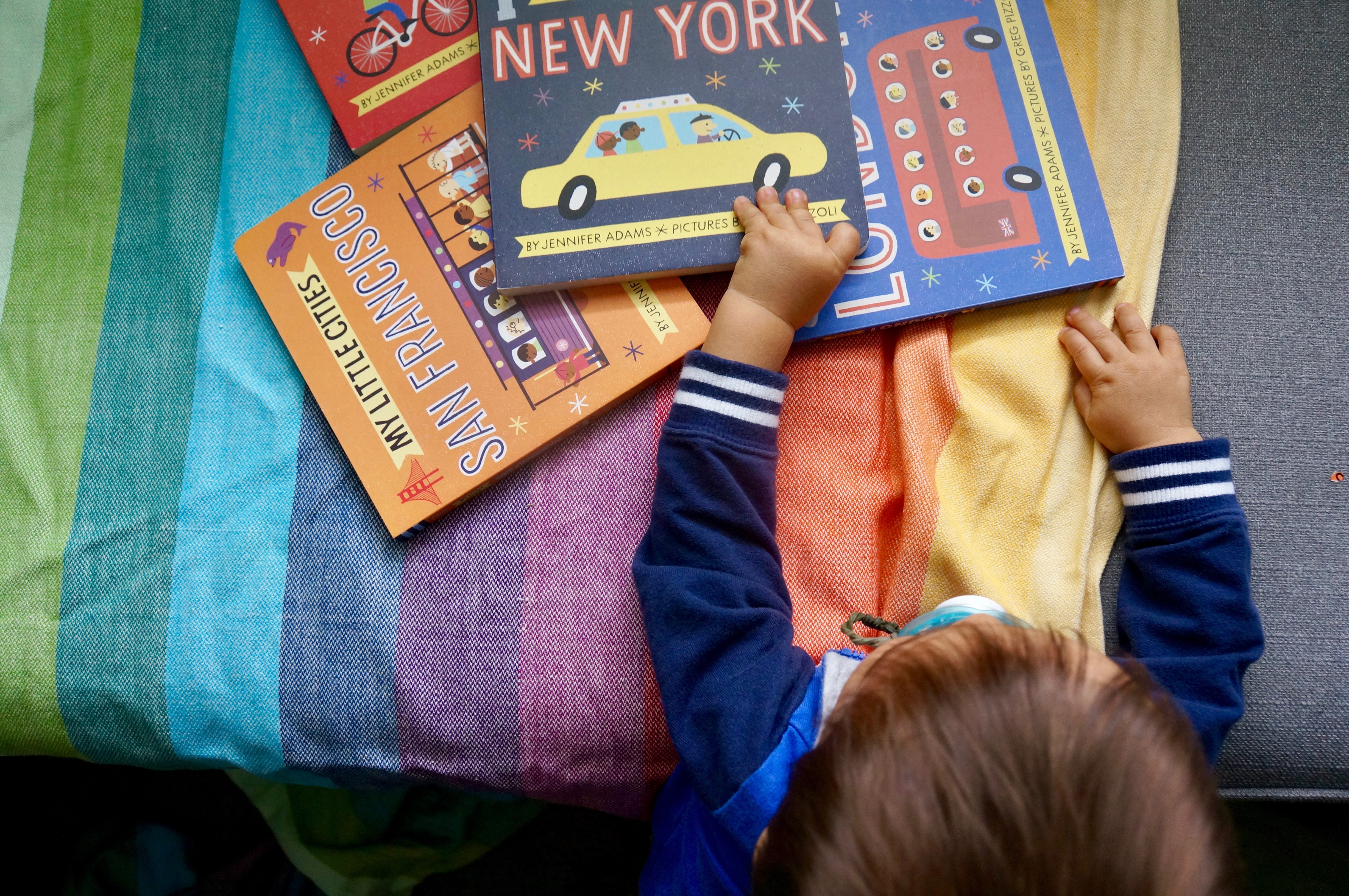 @marcieinmommyland's cover photo for 'Tour San Francisco, Paris, New York + London with My Little Cities books!'