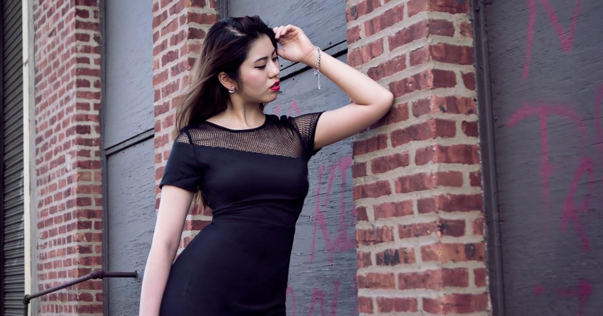 @judycyang's cover photo for 'blurred lines   tobi mesh insert dress'