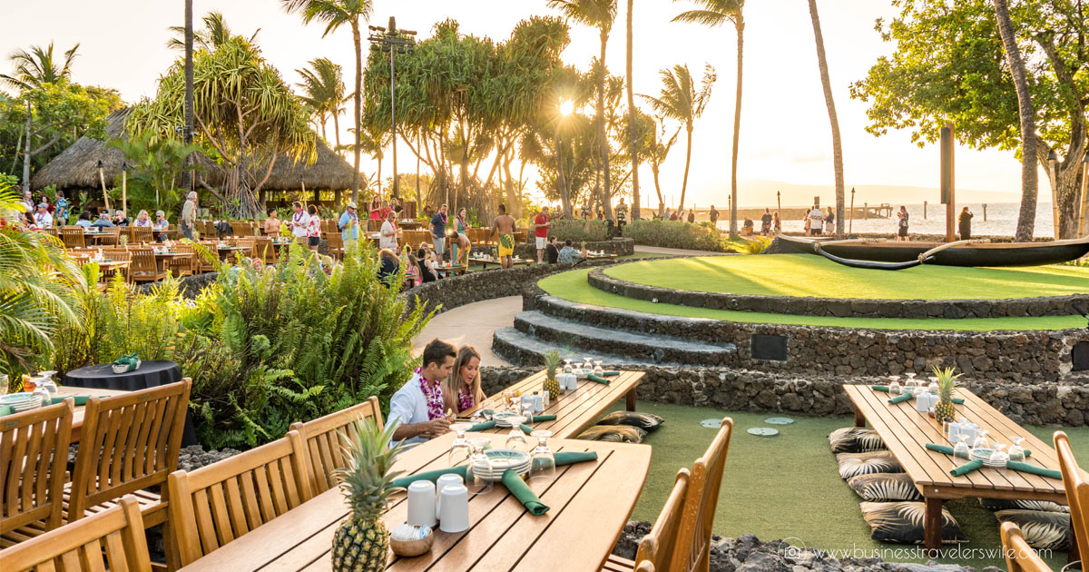 @businesstravelerswife's cover photo for 'A Feast for the Belly and the Eyes at Old Lahaina Luau in Maui'
