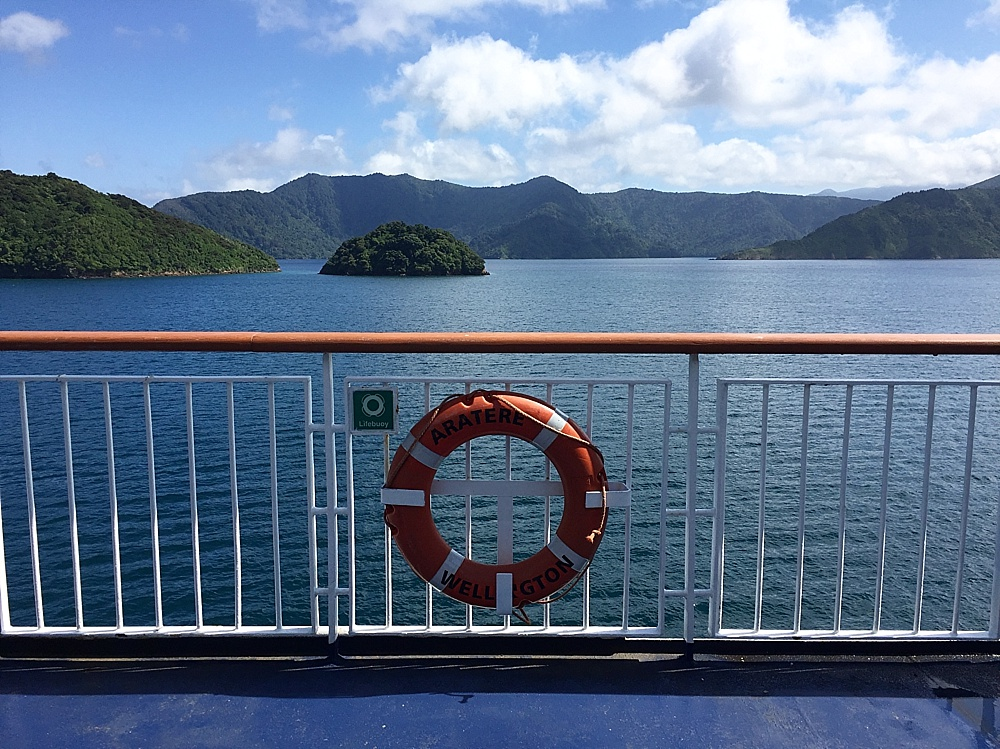 @kelseykaylove's cover photo for 'Ferry Travel Between New Zealand's South & North Island - Travelin' Fools'