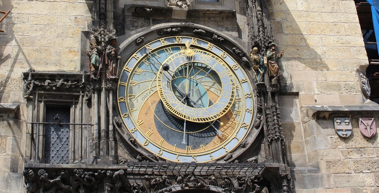 @kate_wanderinglife's cover photo for 'Learn all about Prague's famous astronomical clock - Wandering Life'