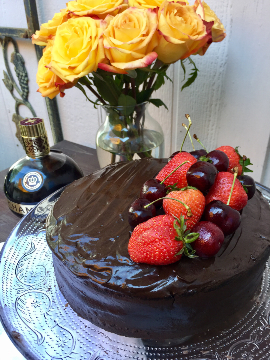 @therosetable's cover photo for 'Chambord Chocolate Cake'