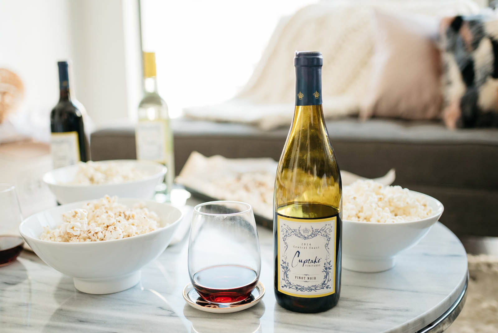 @halliekwilson's cover photo for 'Four Wine & Popcorn Pairings for Your Next Girls' Night'