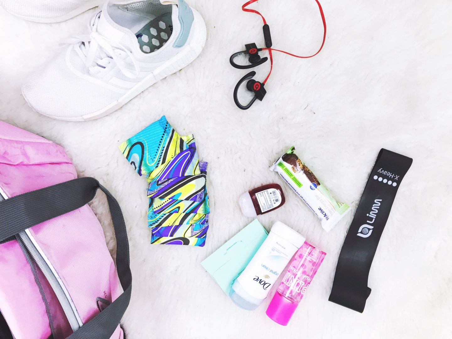 @hellobrittnee's cover photo for 'My Gym Bag Necessities with U By Kotex Fitness'