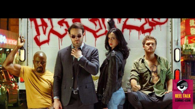 @reeltalkinc's cover photo for 'Reel SDCC: Marvel's The Defenders - Reel Talk'