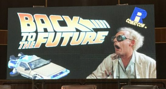@reeltalkinc's cover photo for 'Back To The Future: Christopher Lloyd and Tom Wilson at Rhode Island Comic Con - Reel Talk'