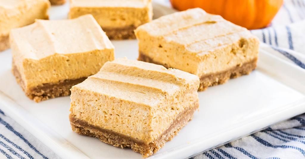 @ifyougiveablondeakitchen's cover photo for 'Pumpkin Cheesecake Bars | If You Give a Blonde a Kitchen'