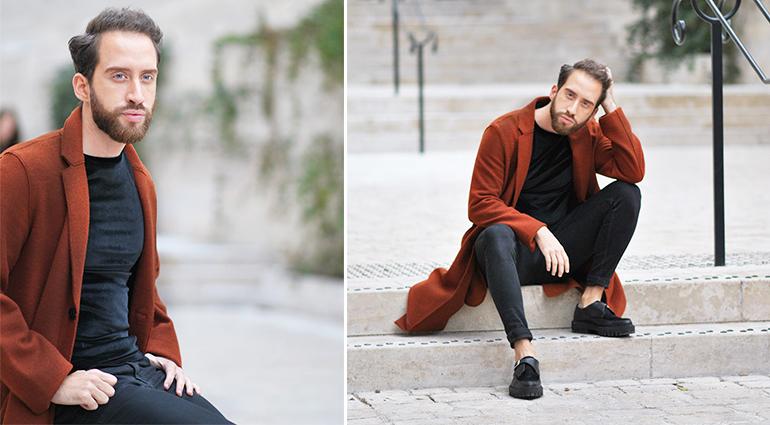 @lecerfbarbu's cover photo for 'Élégant en orange cuivré'