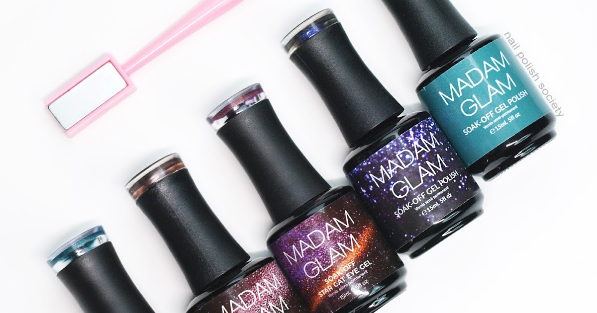 @nailpolishsociety's cover photo for 'Madam Glam Cat Eye Gel Polish + More'