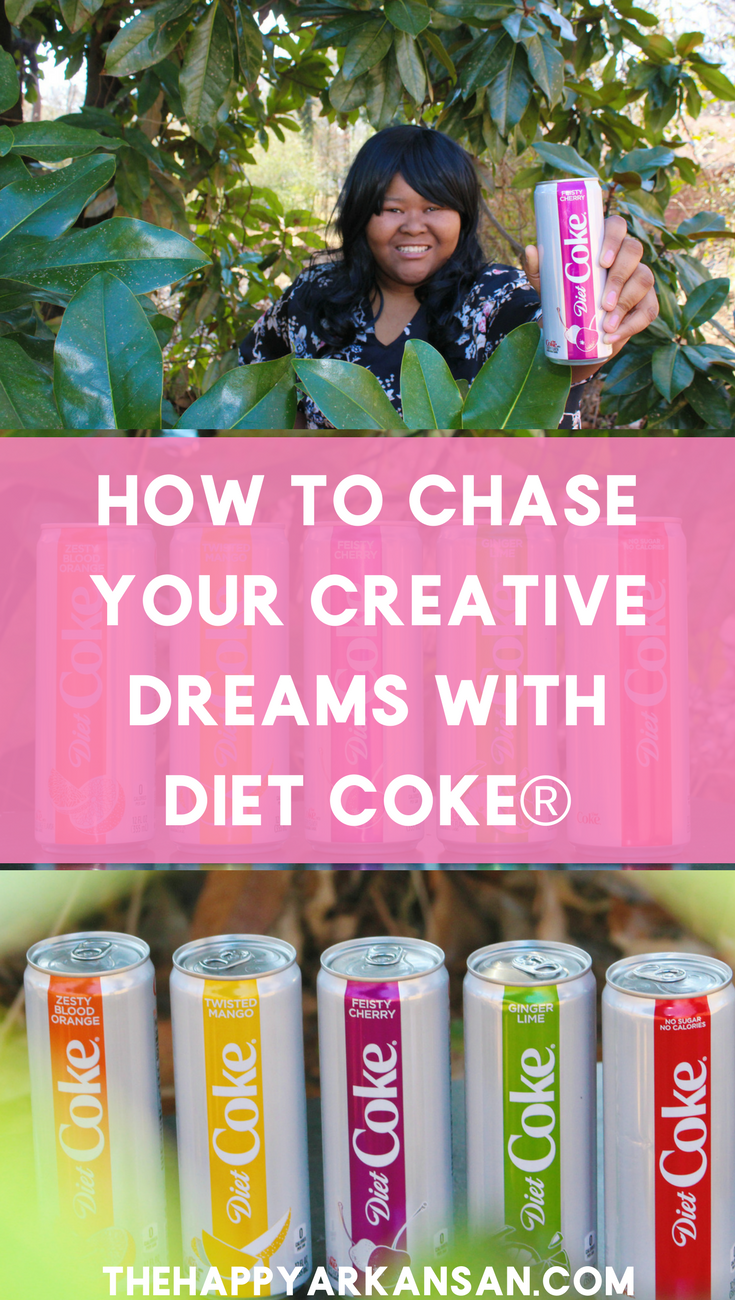 @thehappyarkansan's cover photo for 'How To Chase Your Creative Dreams With Diet Coke®'