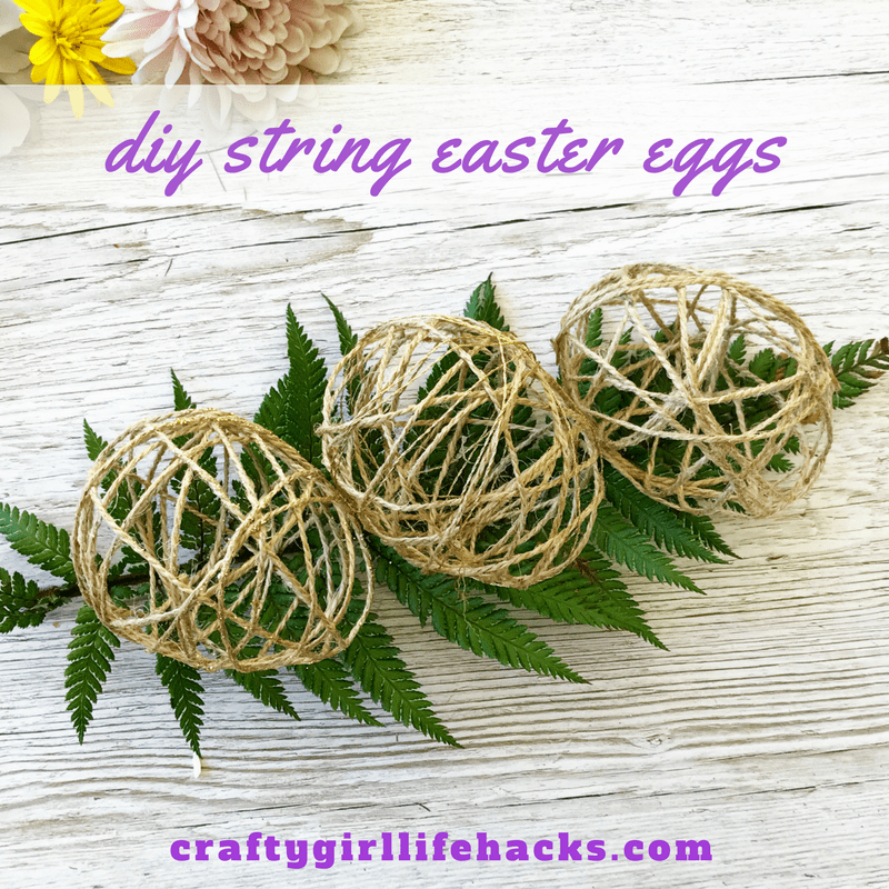 @craftygirllifehacks's cover photo for 'DIY String Easter Eggs'