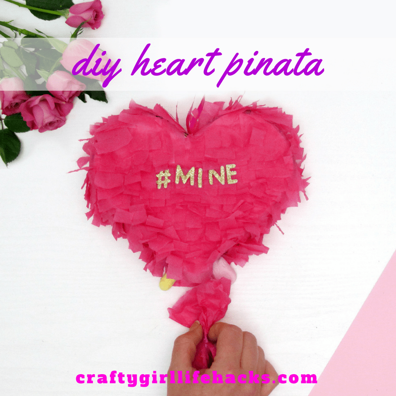 @craftygirllifehacks's cover photo for 'DIY Upcycled Love Heart Pinata with Moonpig.com'