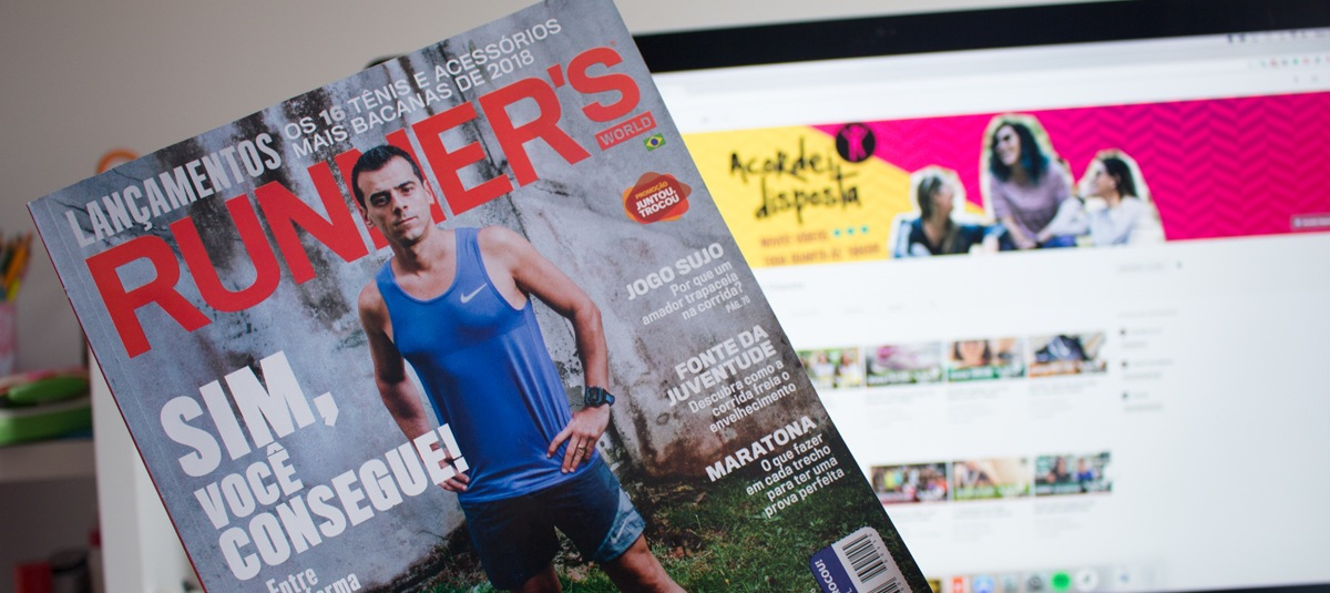 @acordeidisposta's cover photo for 'Saímos na Runner's World Brasil! - Acordei Disposta'