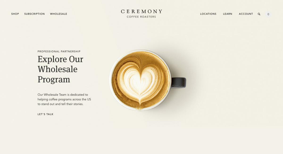 @owdin.live's cover photo for 'Le design du site ceremonycoffee.com est vraiment remarquable'