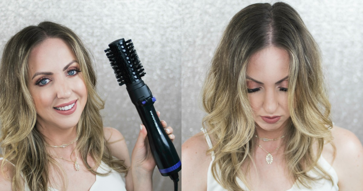 @mego's cover photo for 'Blowout + Beachy Waves? Conair InfintiPro Spin Air Brush Styler'