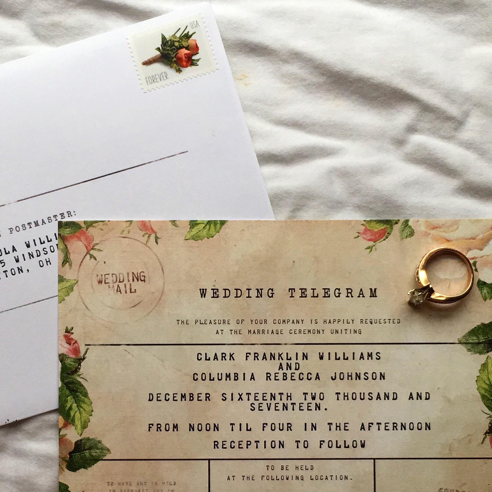 @cocoandcompany_'s cover photo for 'My Wedding Invitations – The Domesticated Peach'