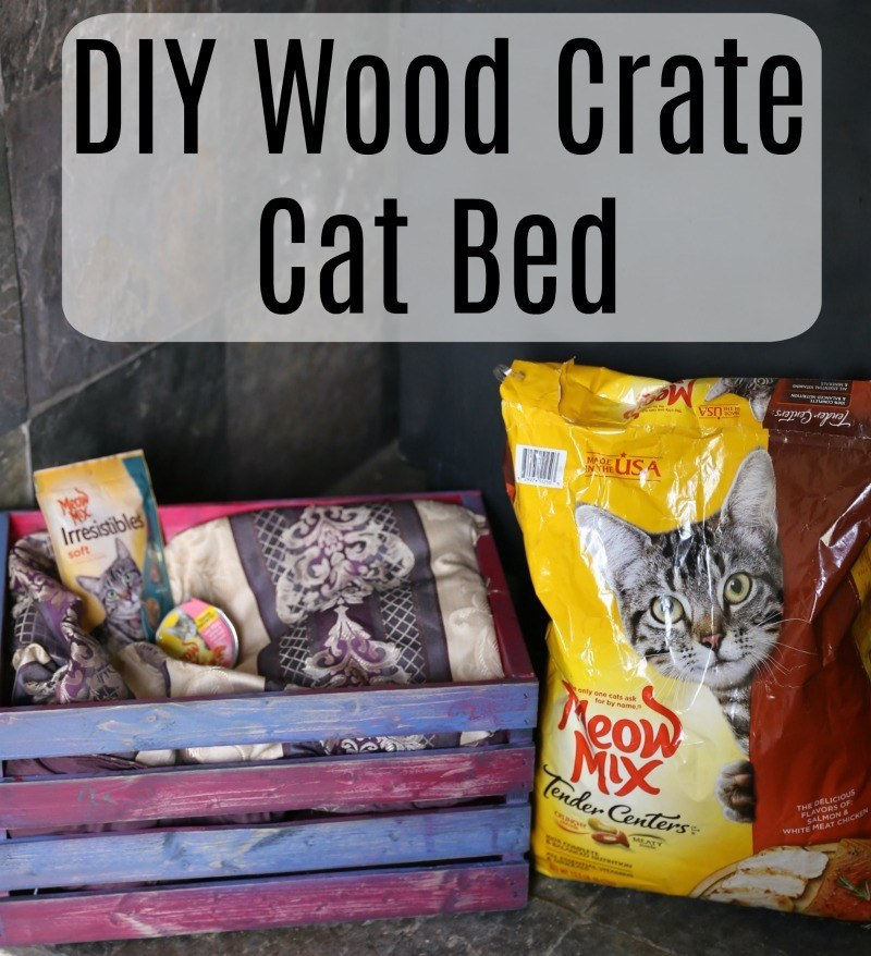 @jennlbrockman's cover photo for 'DIY Wood Crate Cat Bed | Jenns Blah Blah Blog | DIY Pet Project'