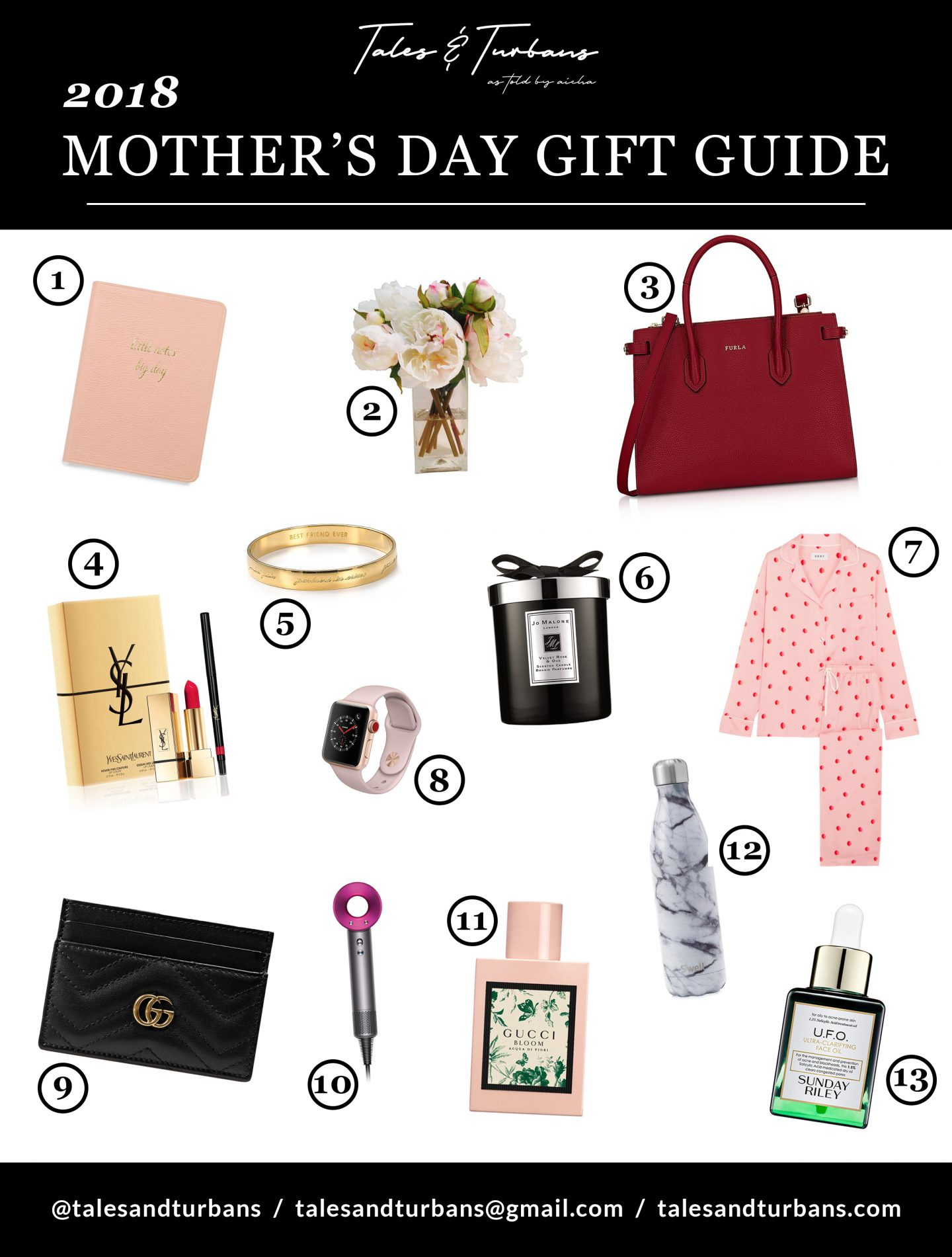 @talesandturbans's cover photo for 'Mother's Day 2018- Gift Guide For That Special Mom'